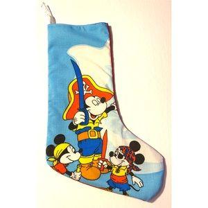 Retro Disney Mickey Fabric Christmas Stocking